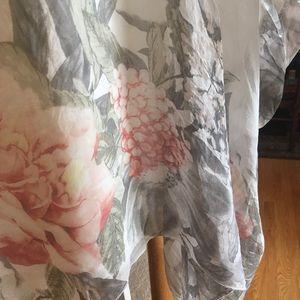 a739612b468413 Giusy Tops - Giusy Italian Silk Caftan Blouse Poncho Top S